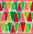 christmas color stamp pattern vector image vector image