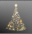 christmas glitter bokeh lights eps 10 vector image
