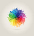 color wheel polygon vector image