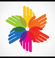 colorful hand make flower vector image vector image