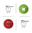 correct teeth brushing icon vector image vector image