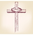 cross and crown of thorns a symbol of vector image vector image