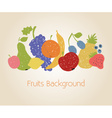 Doodle fruits background vector image vector image