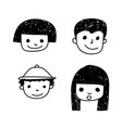 doodle people icon vector image vector image