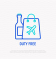 duty free thin line icon vector image