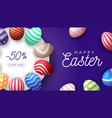 easter egg horizontal banner easter card vector image vector image