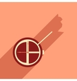 Flat design modern icon Watch vector image vector image