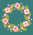 floral wreath with place for vector image vector image