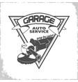 garage grinder logo vector image vector image