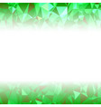 green polygonal background rumpled triangular vector image