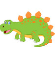 happy dinosaur cartoon vector image vector image