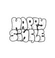 happy single - doodle lettering quote graffiti vector image vector image