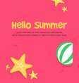 happy summer day poster style vector image