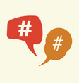 hashtag icon vector image vector image