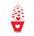 Heart pot Valentines Day vector image vector image