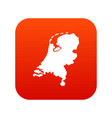 holland map icon digital red vector image vector image