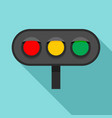 horizontal traffic lights icon flat style vector image