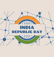 indian republic day concept vector image vector image