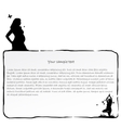 ink frame with Pregnant women vector image vector image