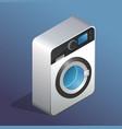 isometric icon of washing machine vector image