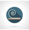 Linoleum round flat icon vector image