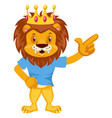lion is happy on white background vector image vector image