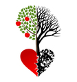 live and dead tree vector image vector image