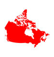 Map of Canada vector image vector image