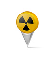 Nuclear symbol pointer vector image
