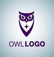 OWL LOGO 6 vector image vector image