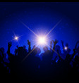 party crowd on night sky background vector image vector image