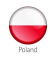 poland round button flag vector image vector image
