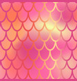 red and pink mermaid scale seamless pattern vector image vector image