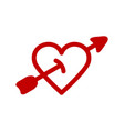 red heart icon minimalism vector image vector image