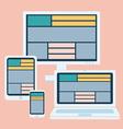 responsive design gadgets vector image