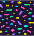 retro memphis seamless pattern in bright colors vector image