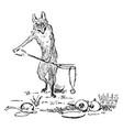 reynard the fox finding the treasure vintage vector image vector image