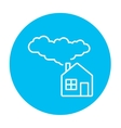 Save energy house line icon vector image vector image