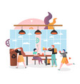 school canteen concept for web banner vector image
