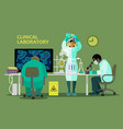 scientists in medical laboratory doing research vector image vector image