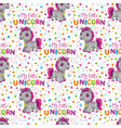 seamless pattern with cute cartoon unicorn toy vector image vector image