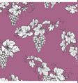 seamless pattern with grape branches vector image
