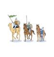set of islamic knights vector image