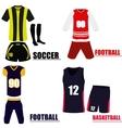 Set of sport uniforms vector image vector image