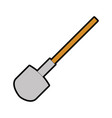 shovel construction isolated icon vector image vector image