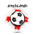 soccer ball and england flag vector image