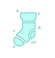 socks icon design vector image vector image