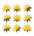 Solar Logo Icons vector image vector image
