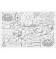 spring and farming doodle set vector image vector image