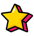 star comic icon vector image vector image